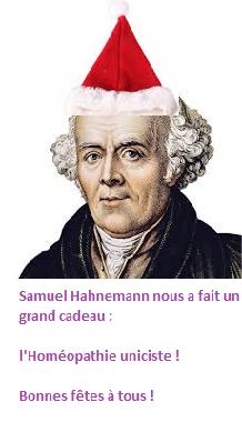 Samuel Hahnemann, père de l'Homéopathie vous souhaite de bonnes fêtes